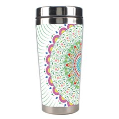 Flower Abstract Floral Stainless Steel Travel Tumblers