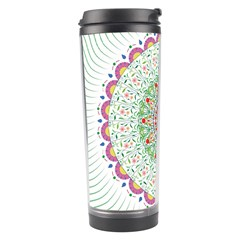 Flower Abstract Floral Travel Tumbler by Nexatart