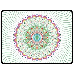Flower Abstract Floral Double Sided Fleece Blanket (large)  by Nexatart
