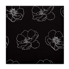 Rose Wild Seamless Pattern Flower Tile Coasters