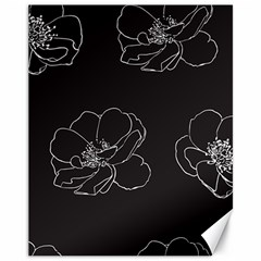 Rose Wild Seamless Pattern Flower Canvas 11  X 14