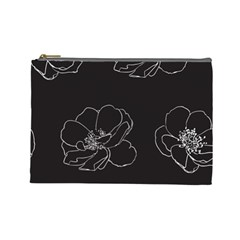Rose Wild Seamless Pattern Flower Cosmetic Bag (large)  by Nexatart