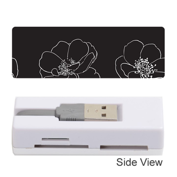Rose Wild Seamless Pattern Flower Memory Card Reader (Stick)