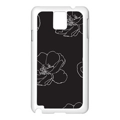 Rose Wild Seamless Pattern Flower Samsung Galaxy Note 3 N9005 Case (white) by Nexatart