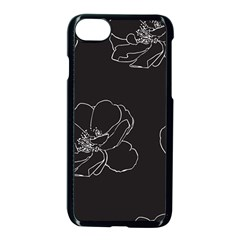 Rose Wild Seamless Pattern Flower Apple Iphone 7 Seamless Case (black)