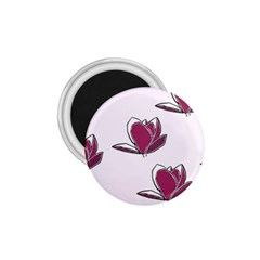 Magnolia Seamless Pattern Flower 1.75  Magnets