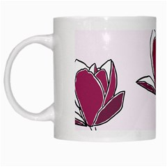 Magnolia Seamless Pattern Flower White Mugs
