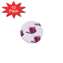 Magnolia Seamless Pattern Flower 1  Mini Buttons (10 pack)