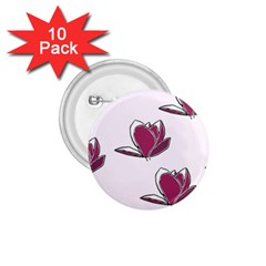 Magnolia Seamless Pattern Flower 1.75  Buttons (10 pack)