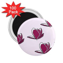 Magnolia Seamless Pattern Flower 2.25  Magnets (100 pack)