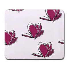 Magnolia Seamless Pattern Flower Large Mousepads