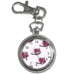 Magnolia Seamless Pattern Flower Key Chain Watches