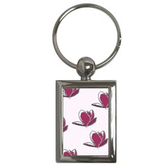 Magnolia Seamless Pattern Flower Key Chains (Rectangle)