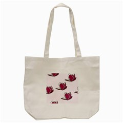 Magnolia Seamless Pattern Flower Tote Bag (Cream)