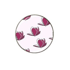 Magnolia Seamless Pattern Flower Hat Clip Ball Marker (4 pack)