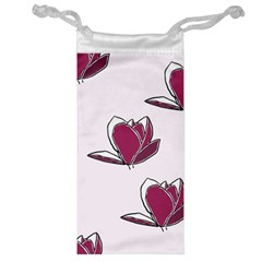 Magnolia Seamless Pattern Flower Jewelry Bag