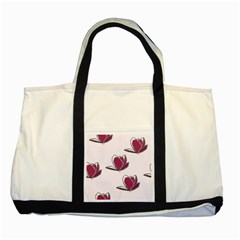 Magnolia Seamless Pattern Flower Two Tone Tote Bag