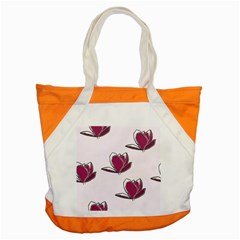 Magnolia Seamless Pattern Flower Accent Tote Bag