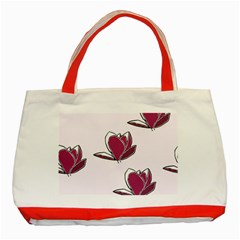 Magnolia Seamless Pattern Flower Classic Tote Bag (Red)