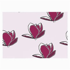 Magnolia Seamless Pattern Flower Large Glasses Cloth (2-Side)