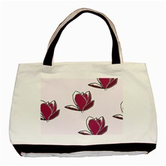 Magnolia Seamless Pattern Flower Basic Tote Bag (Two Sides)
