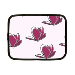 Magnolia Seamless Pattern Flower Netbook Case (Small)