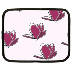 Magnolia Seamless Pattern Flower Netbook Case (Large)