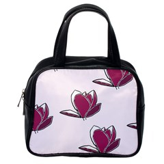 Magnolia Seamless Pattern Flower Classic Handbags (One Side)