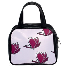 Magnolia Seamless Pattern Flower Classic Handbags (2 Sides)