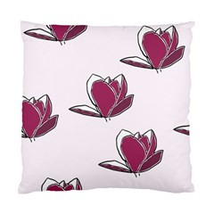 Magnolia Seamless Pattern Flower Standard Cushion Case (One Side)
