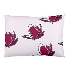 Magnolia Seamless Pattern Flower Pillow Case