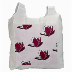Magnolia Seamless Pattern Flower Recycle Bag (One Side)