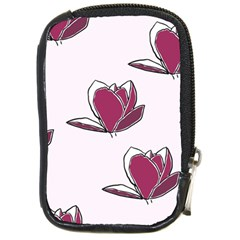 Magnolia Seamless Pattern Flower Compact Camera Cases