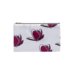 Magnolia Seamless Pattern Flower Cosmetic Bag (Small)
