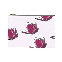 Magnolia Seamless Pattern Flower Cosmetic Bag (Large)