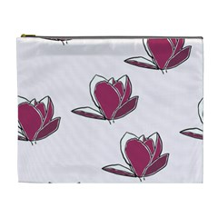 Magnolia Seamless Pattern Flower Cosmetic Bag (XL)
