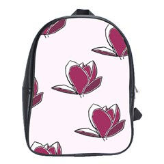 Magnolia Seamless Pattern Flower School Bags(Large)