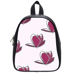 Magnolia Seamless Pattern Flower School Bags (Small)