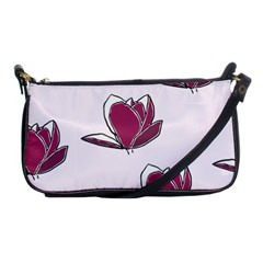 Magnolia Seamless Pattern Flower Shoulder Clutch Bags