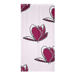 Magnolia Seamless Pattern Flower Shower Curtain 36  x 72  (Stall)