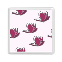 Magnolia Seamless Pattern Flower Memory Card Reader (Square)