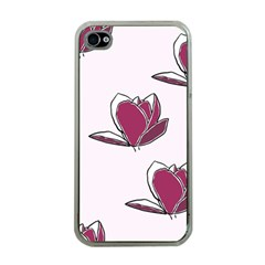 Magnolia Seamless Pattern Flower Apple iPhone 4 Case (Clear)