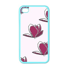 Magnolia Seamless Pattern Flower Apple iPhone 4 Case (Color)