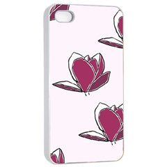 Magnolia Seamless Pattern Flower Apple iPhone 4/4s Seamless Case (White)