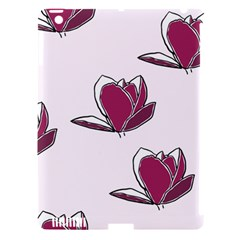 Magnolia Seamless Pattern Flower Apple iPad 3/4 Hardshell Case (Compatible with Smart Cover)