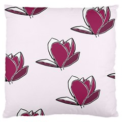 Magnolia Seamless Pattern Flower Large Cushion Case (One Side)