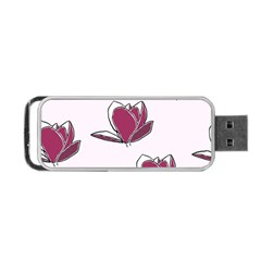 Magnolia Seamless Pattern Flower Portable USB Flash (One Side)