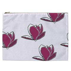 Magnolia Seamless Pattern Flower Cosmetic Bag (XXL)