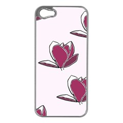 Magnolia Seamless Pattern Flower Apple Iphone 5 Case (silver) by Nexatart