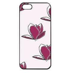 Magnolia Seamless Pattern Flower Apple iPhone 5 Seamless Case (Black)